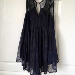 Black FREE PEOPLE lace dress M